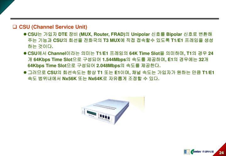 CSU (Channel Service Unit)
