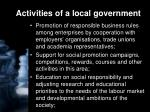 activities of a local government1