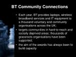 bt community connections