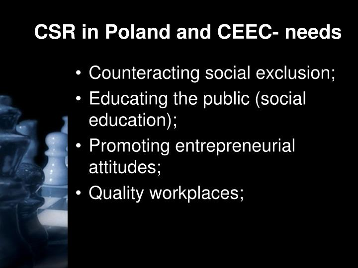CSR in Poland and CEEC- needs