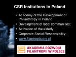 csr insitutions in poland1