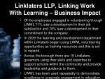 linklaters llp linking work with learning business impact