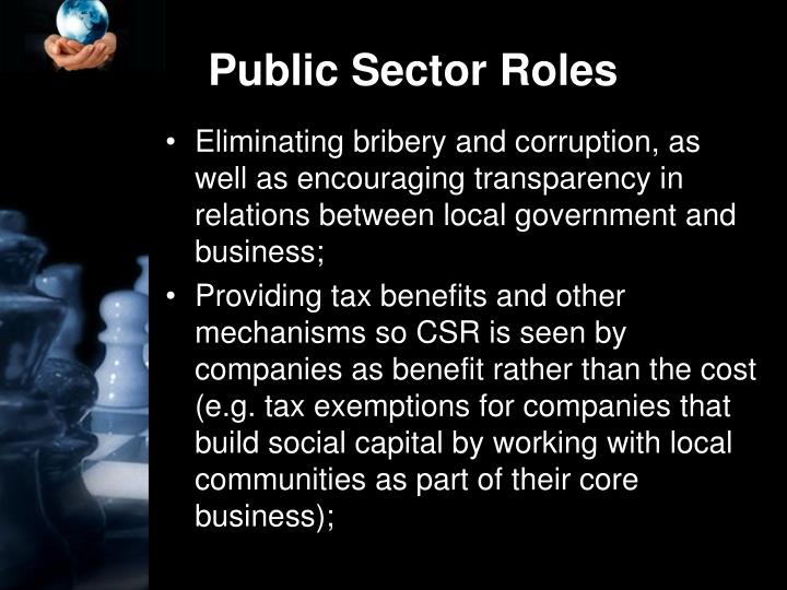 Public Sector Roles
