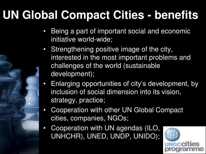 UN Global Compact Cities - benefits
