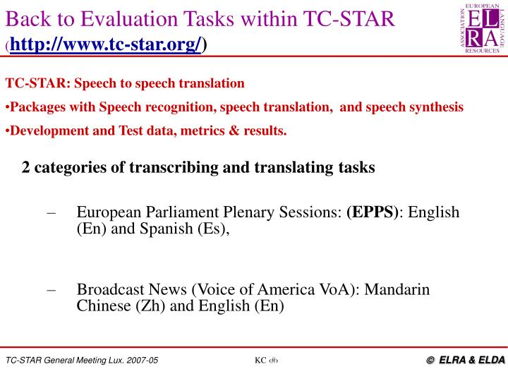 2 categories of transcribing and translating