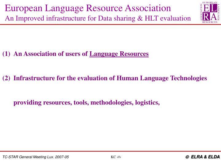 European Language Resource Association