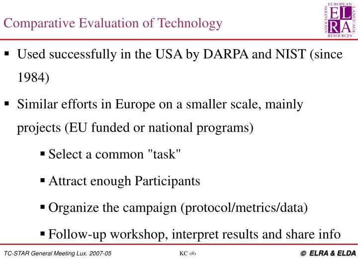 Comparative Evaluation of Technology