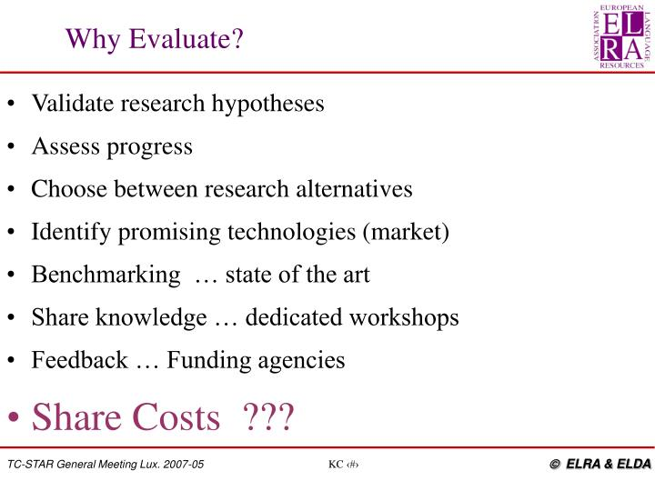 Validate research hypotheses