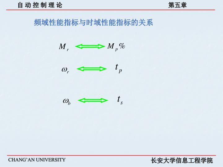 频域性能指标与时域性能指标的关系