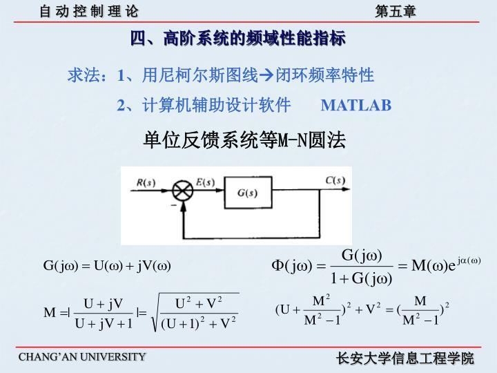 四、高阶系统的频域性能指标