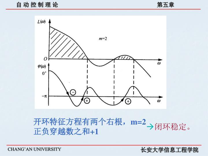 开环特征方程有两个右根,