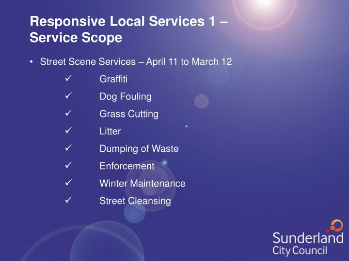 Responsive Local Services 1 –