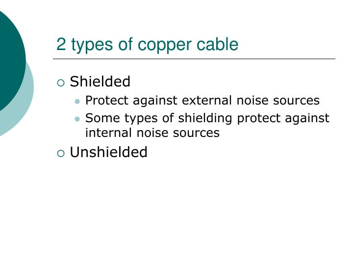 2 types of copper cable