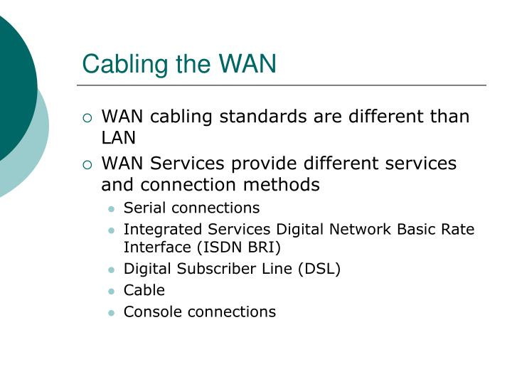 Cabling the WAN