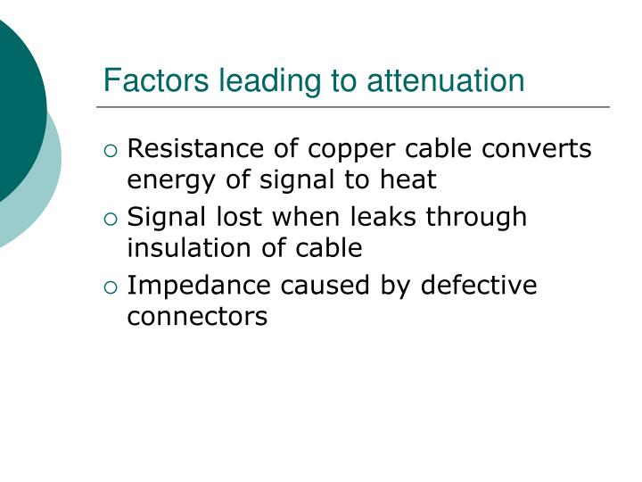 Factors leading to attenuation