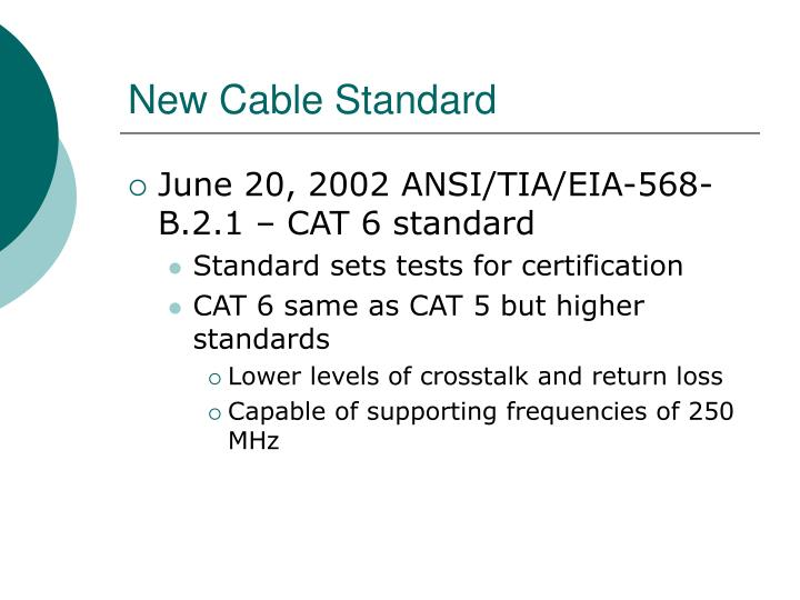 New Cable Standard
