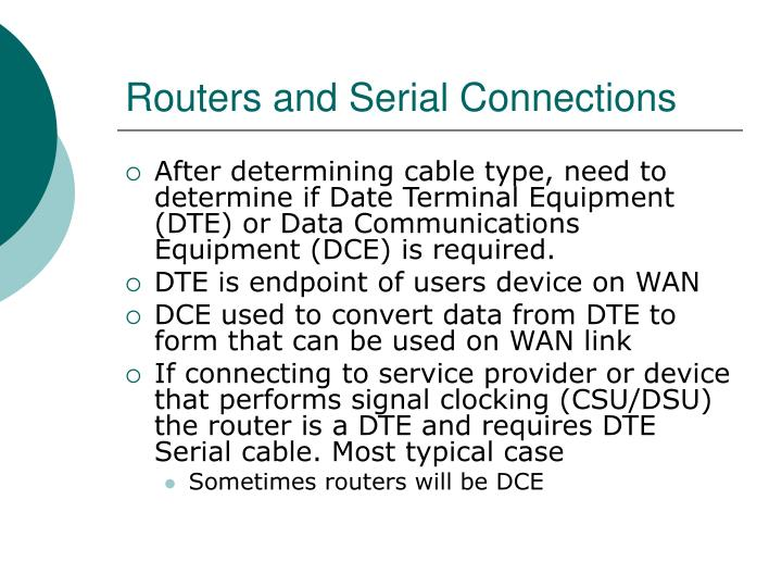 Routers and Serial Connections