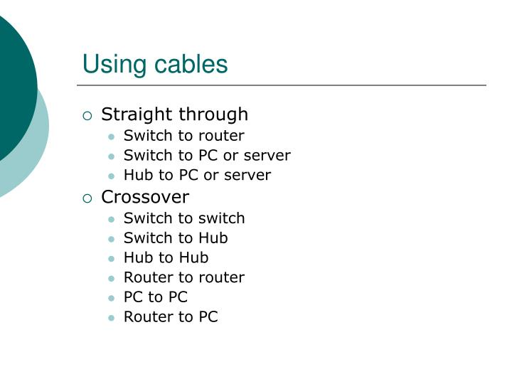Using cables