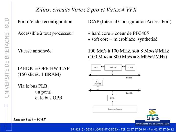 Xilinx, circuits Virtex 2 pro et Virtex 4 VFX