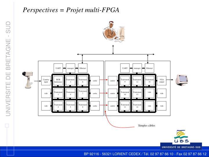 Perspectives = Projet multi-FPGA