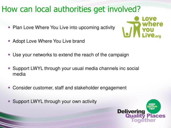 How can local authorities get involved?