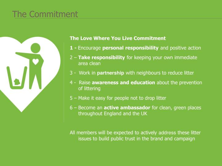 The Love Where You Live Commitment