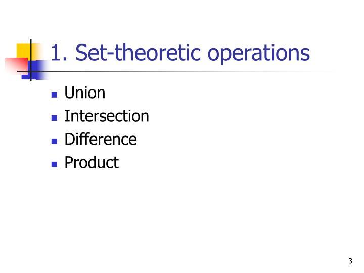 1. Set-theoretic operations