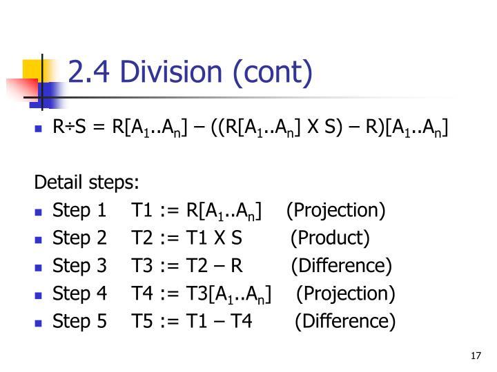 2.4 Division (cont)
