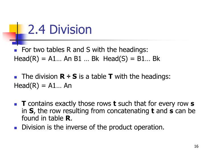 2.4 Division