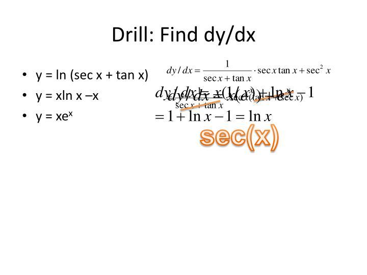 Drill: Find