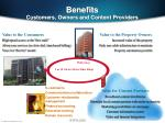 benefits customers owners and content providers
