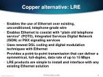 copper alternative lre