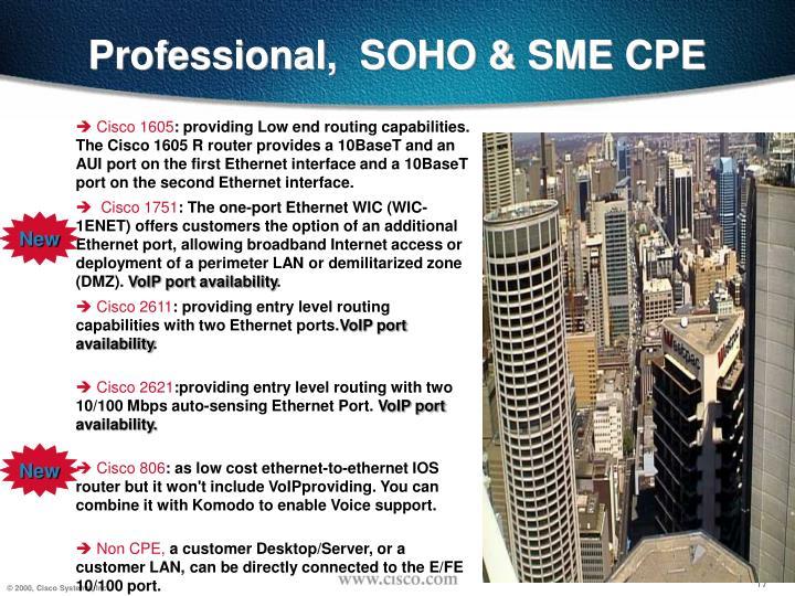 Professional,  SOHO & SME CPE