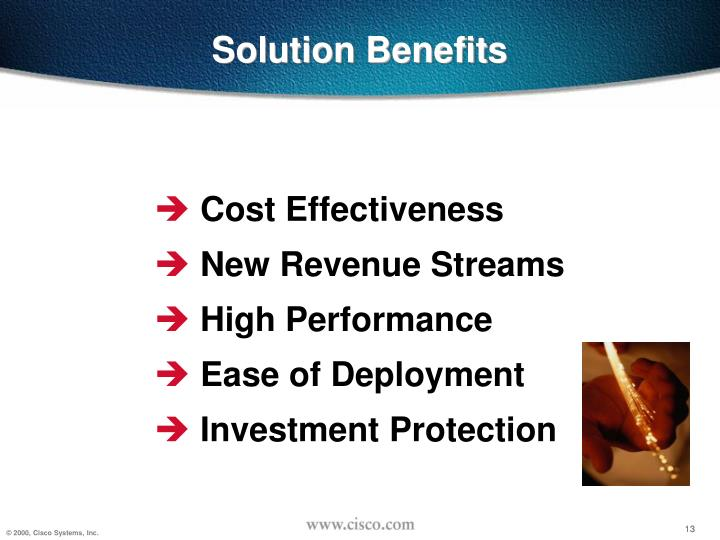 Solution Benefits