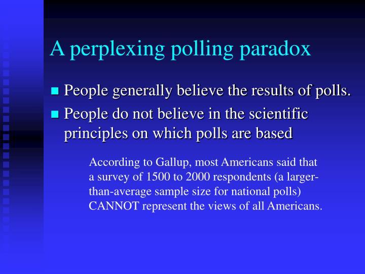 A perplexing polling paradox