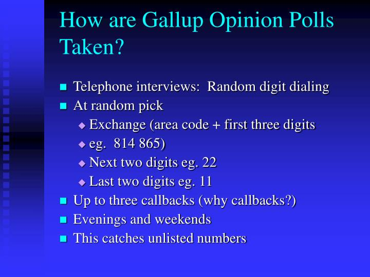 How are Gallup Opinion Polls Taken?