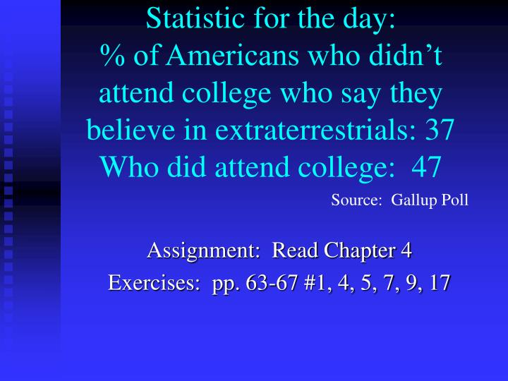 Statistic for the day: