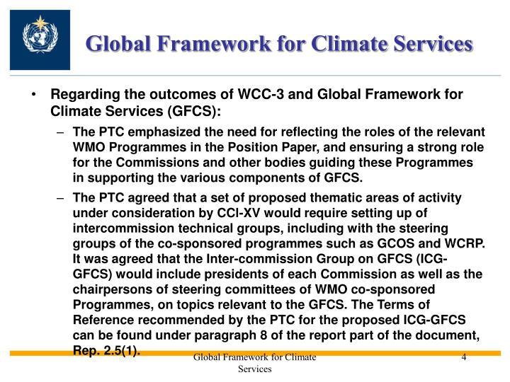Global Framework for Climate Services