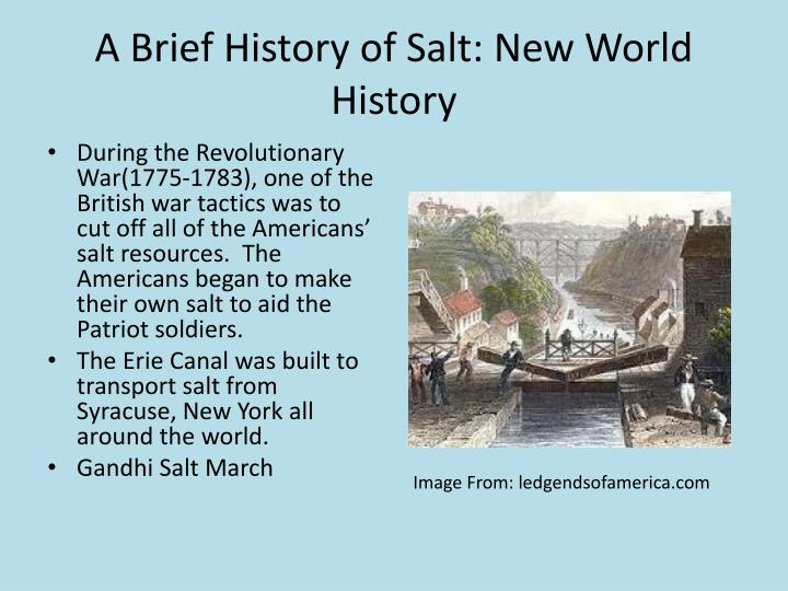 A Brief History of Salt: New World History