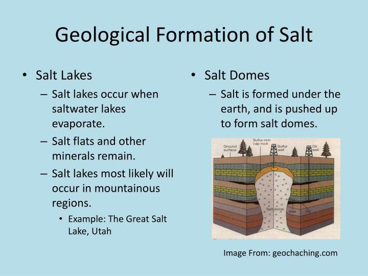 Geological Formation of Salt