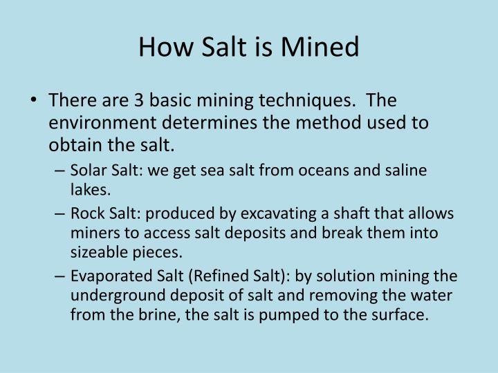How Salt is Mined