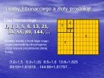 liczby fibonacciego a z oty prostok t