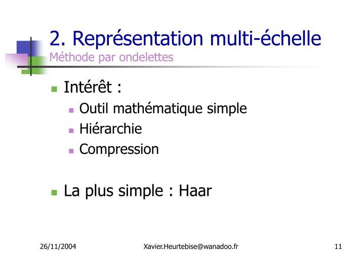 2. Représentation multi-échelle