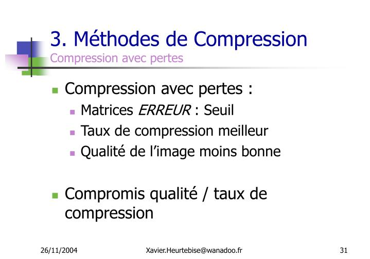 3. Méthodes de Compression