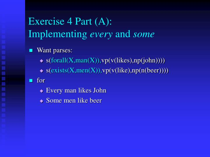 Exercise 4 Part (A):