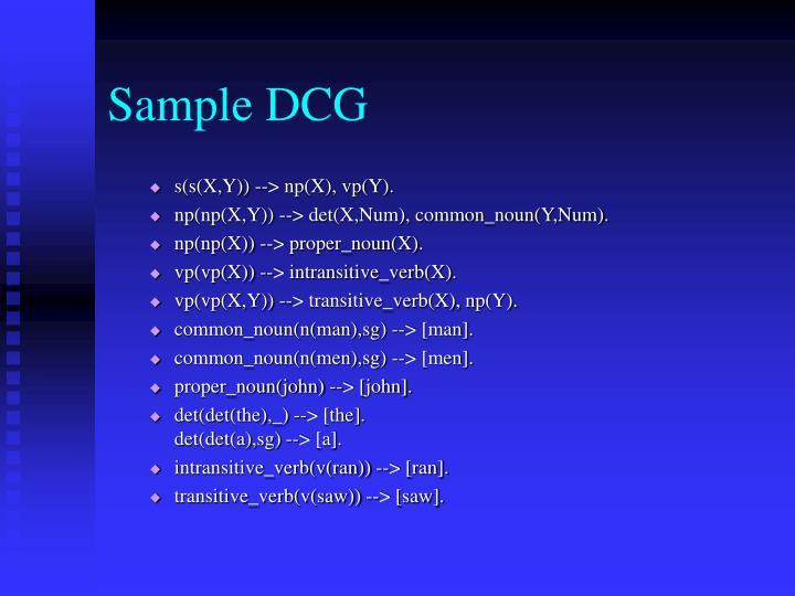 Sample DCG