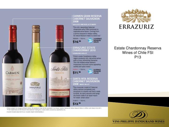 Estate Chardonnay Reserva