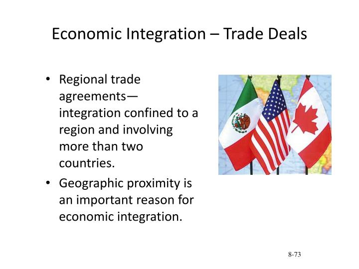 Economic Integration – Trade Deals