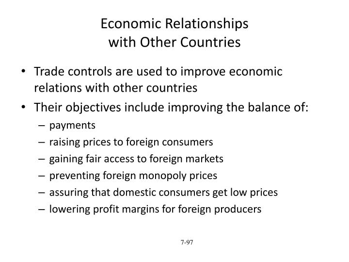 Economic Relationships