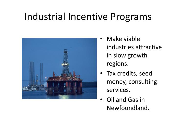 Industrial Incentive Programs